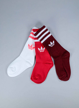 Solid crew socks red 3-pack