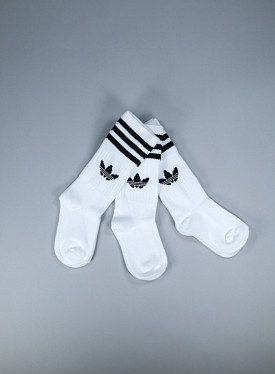Solid crew socks white 3-pack