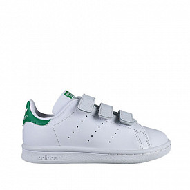Stan Smith O.G White/Green Velcro PS