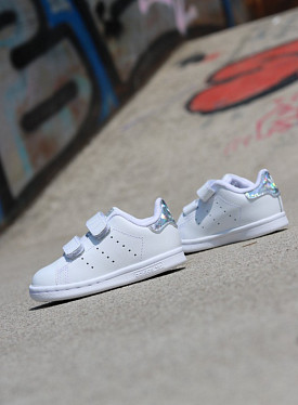 Stan smith white/glitter velcro TS