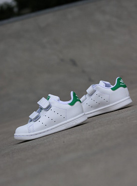 Stan smith white/green velcro TS