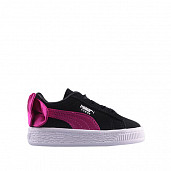 Suede bow ac black beetroot ts