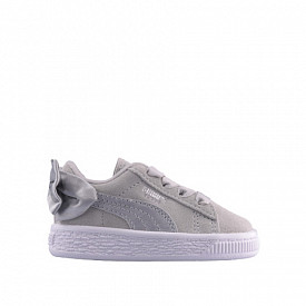 Suede bow ac gray violet ts