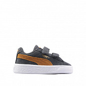 Suede Dark Grey/Yellow Velcro TS