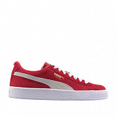 Suede Red/White Kids