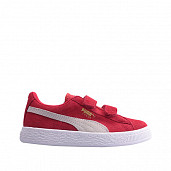 Suede Red/White Velcro PS