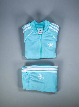 Superstar set aqua/white TS