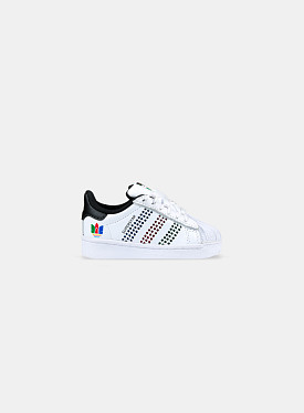 Superstar White Perf Green Black TD