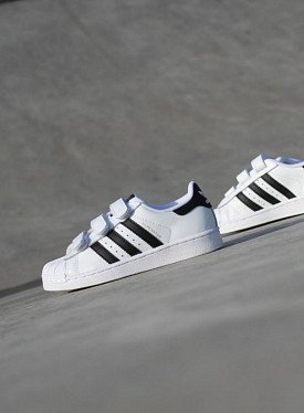 Superstar White/Black Velcro PS
