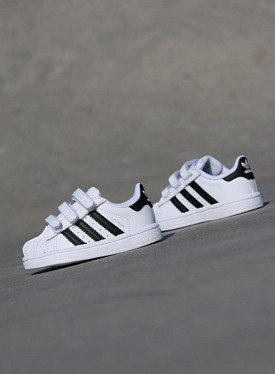 Superstar White/Black Velcro TS