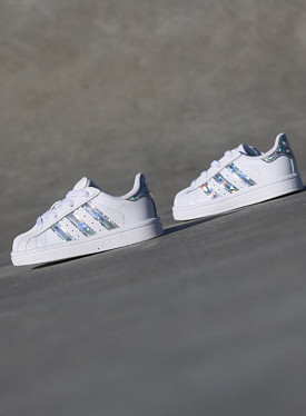 Superstar White/Glitters TS