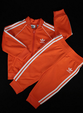 Superstarsuit orange/white TS