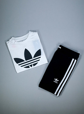 T-shirt short set White/Black PS