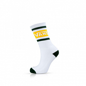 Tribe Vans Crew Socks White/Pine Needle
