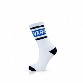 Tribe Vans Crew Socks White/Victoria Blue