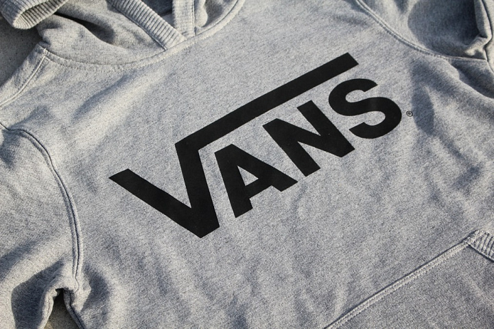 Hooded Sweater Vans Grey Kids (1)