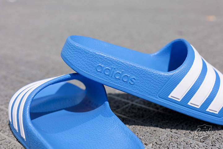 Adilette aqua blue white ps (2)