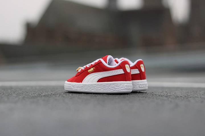 Suede classic bboy red-flame (9)