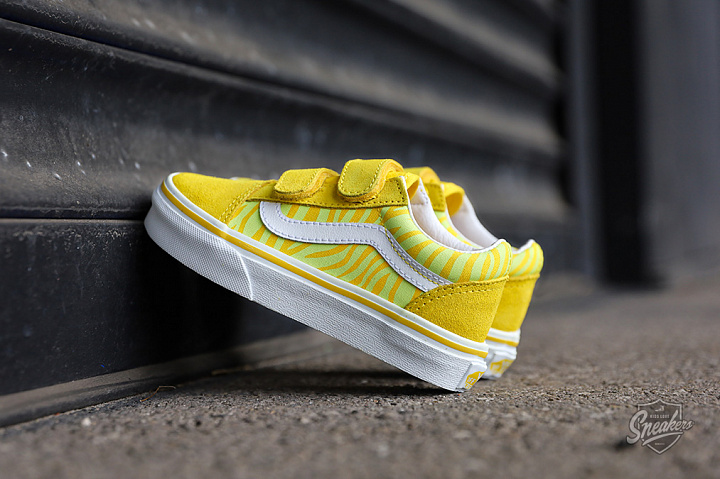 Old skool V Neon Animal Zebra Yellow PS (0)