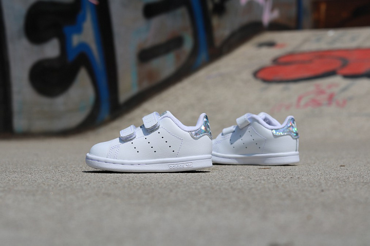 Stan smith White/Metsil velcro TS (0)