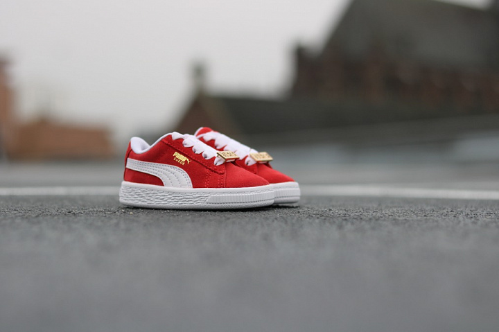 Suede classic bboy red-flame (7)