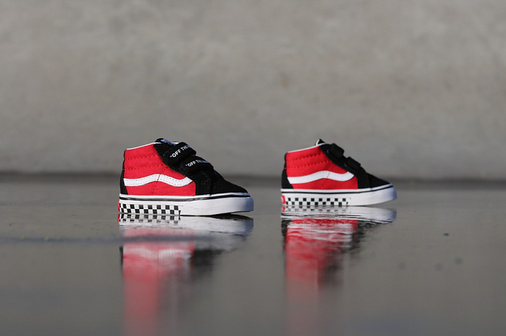 Sk8-mid Reissue Red/Black Checker TS (5)