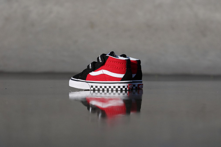 Sk8-mid Reissue Red/Black Checker TS (9)