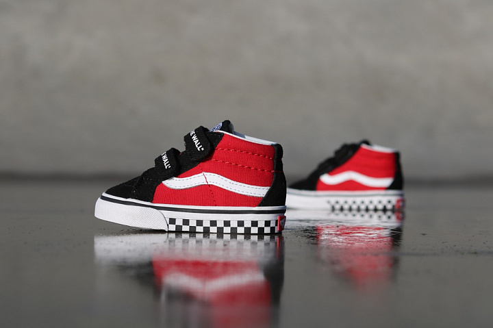 Sk8-mid Reissue Red/Black Checker TS (0)