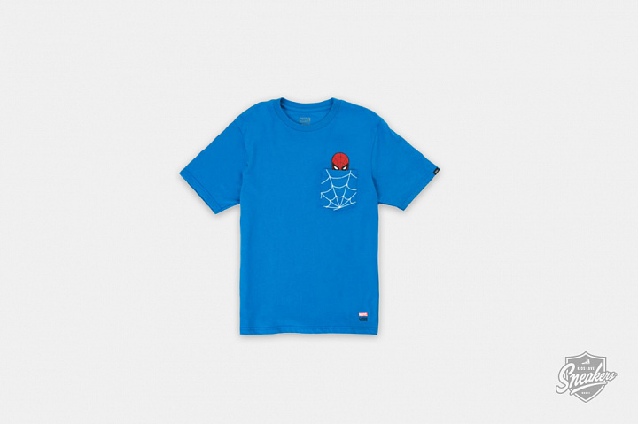 X Marvel Spiderman Pocket Tee Blue GS (0)