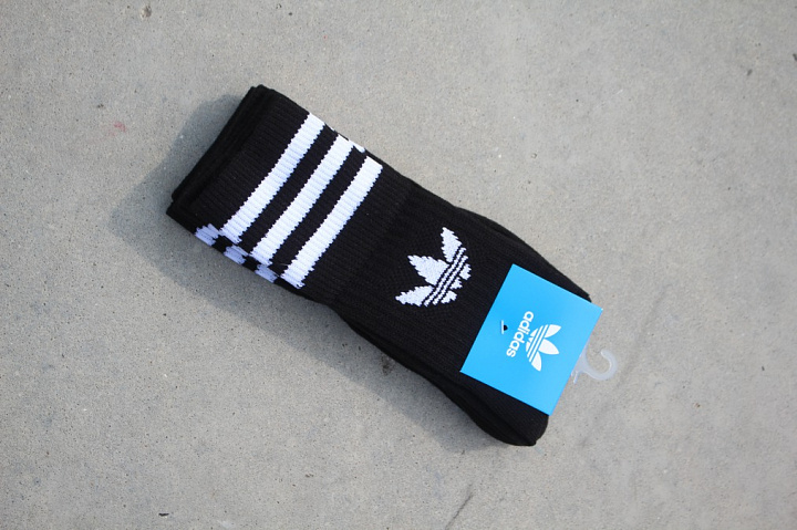 Solid crew socks black 31-34 (0)