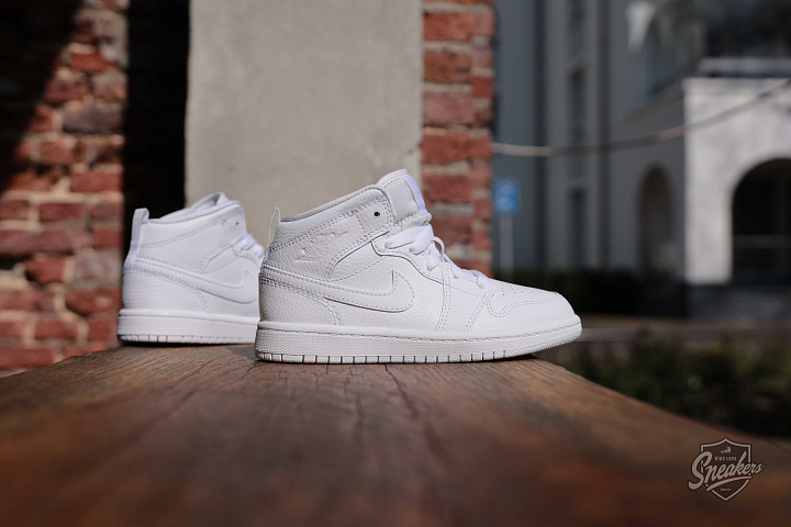 Jordan 1 mid white PS (2)
