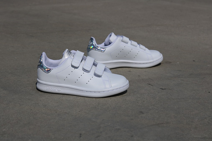 Stan Smith White/Metsil Velcro PS (2)