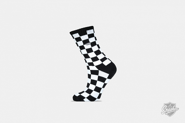 Checkerboard Crew Socks Black/White (0)