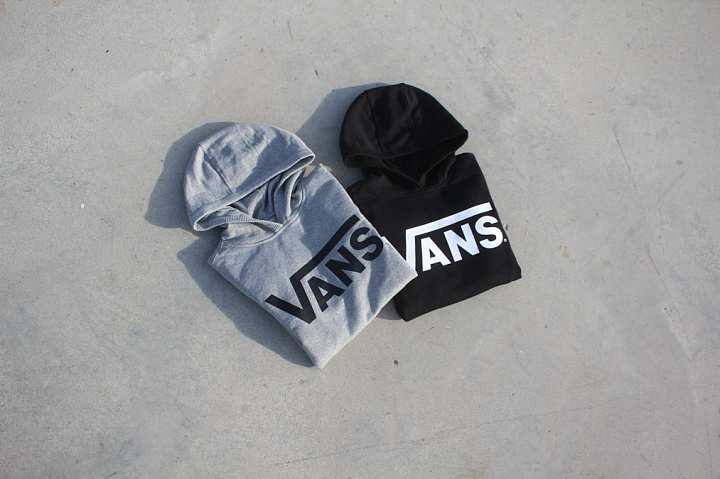Hooded Sweater Vans Black Kids (3)