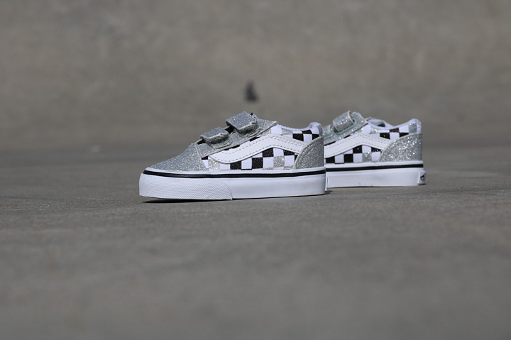 Vans Old Skool Checkerboard Grade School Shoes