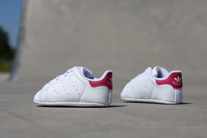 Stan smith White/Pink Crib (1)