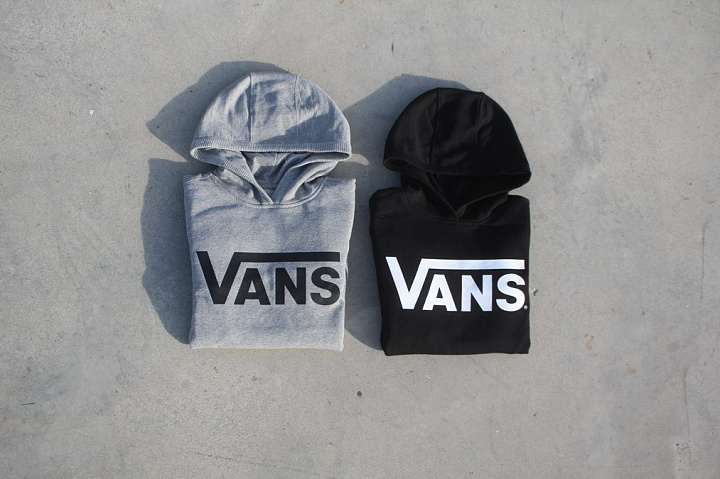 Hooded Sweater Vans Grey Kids (2)