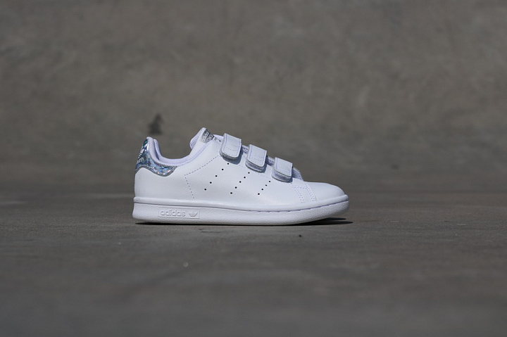 Stan Smith White/Metsil Velcro PS (1)