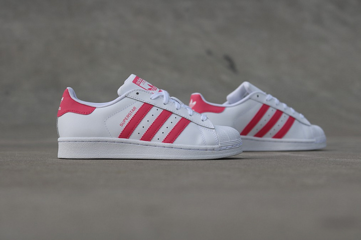 Superstar White/PInk  GS (0)