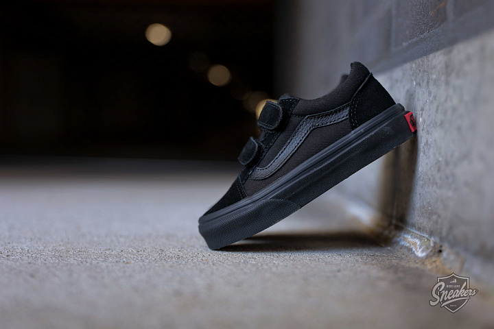 Old skool Black/Black Velcro PS (0)