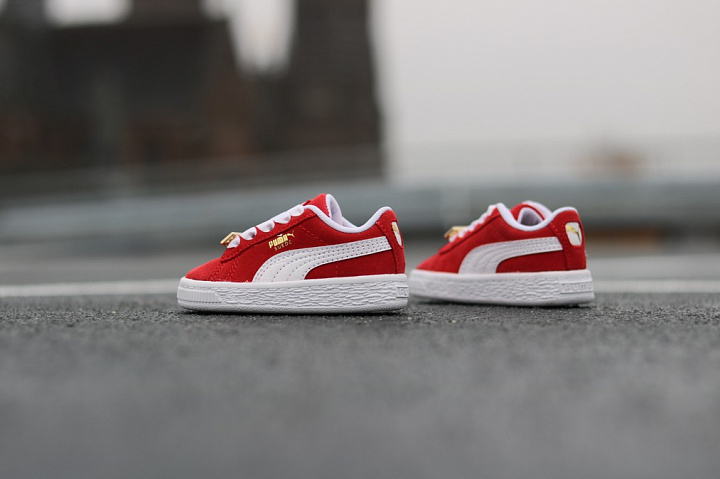 Suede classic bboy red-flame (4)