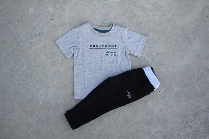 Set EQT Tee/Pants Grey/Black (0)