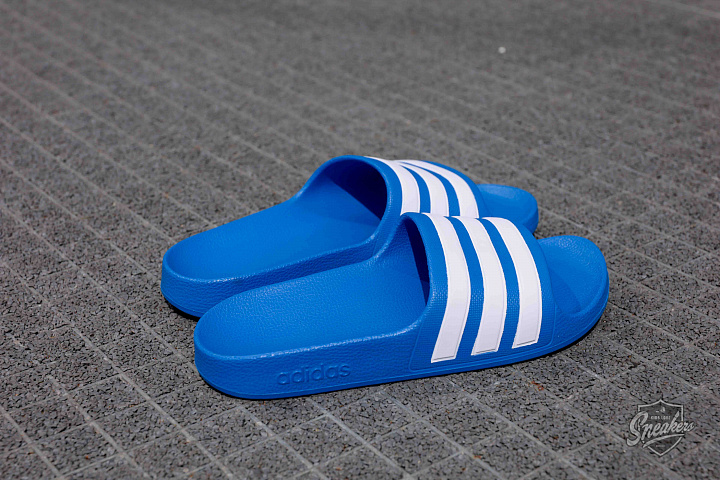 Adilette aqua blue white gs (1)