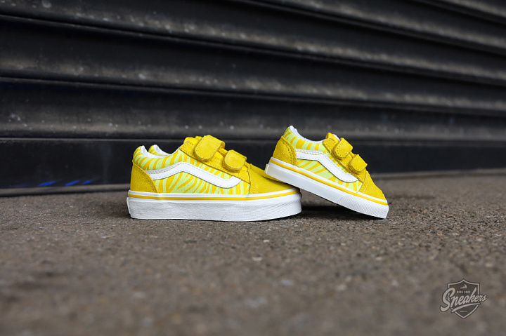 Old skool V Neon Animal Zebra Yellow PS (1)