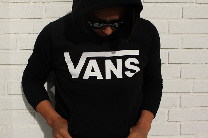 Hooded Sweater Vans Black Kids (4)