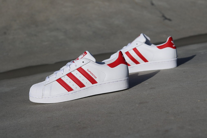 Superstar White/Red GS (1)