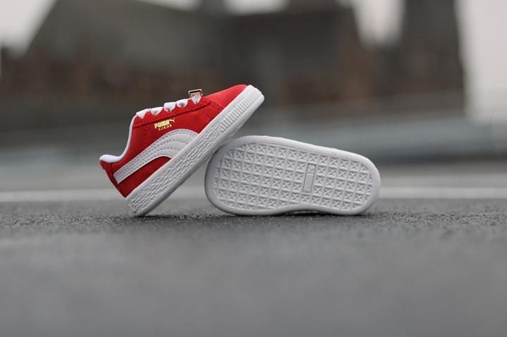 Suede classic bboy red-flame (6)