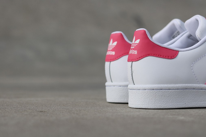Superstar White/PInk  GS (6)