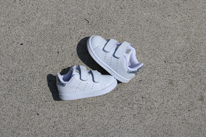 Stan smith White/Metsil velcro TS (1)