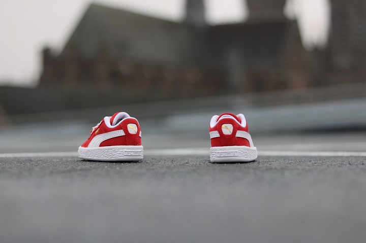 Suede classic bboy red-flame (8)